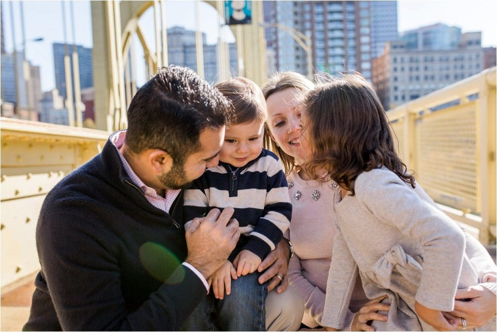Pittsburgh Downtown Family Photography