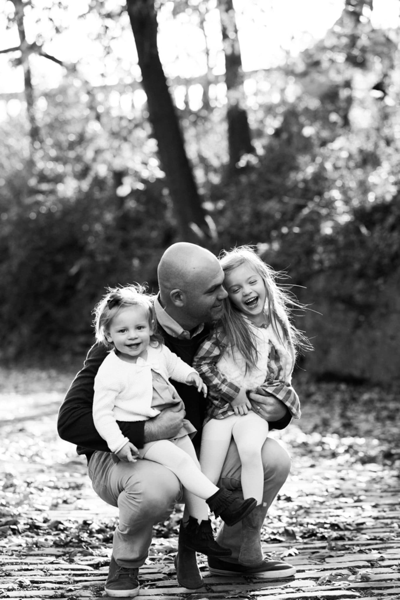 photo of father and daughters in pittsburgh
