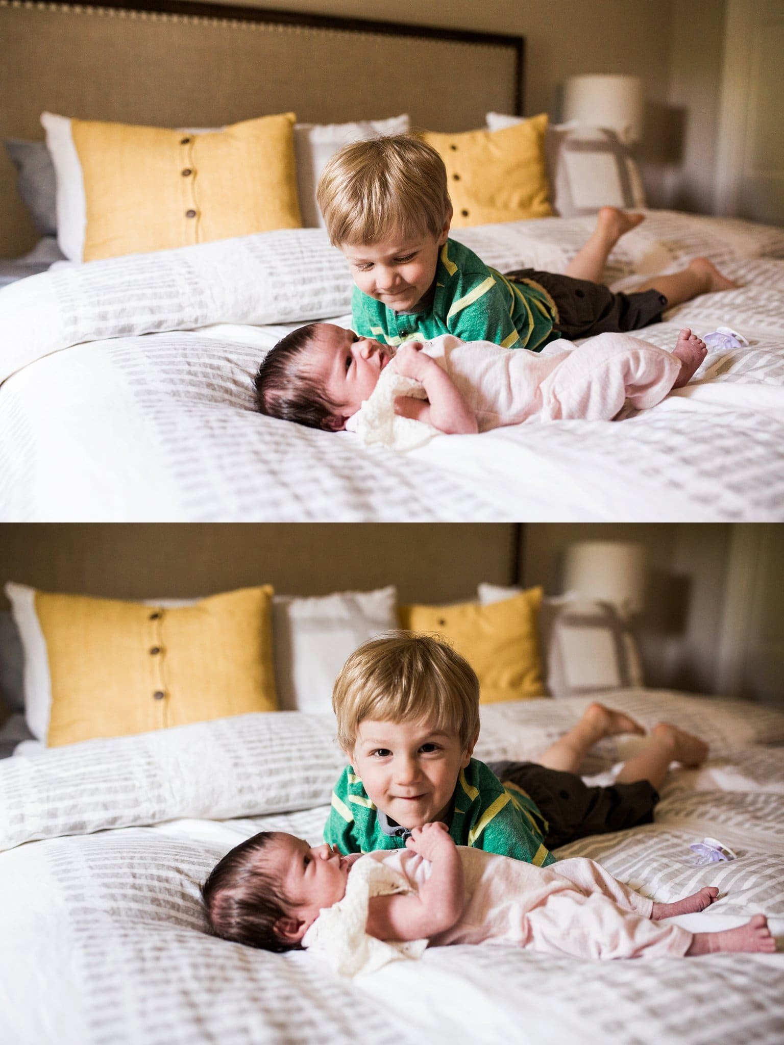 older sibling and newborn photos