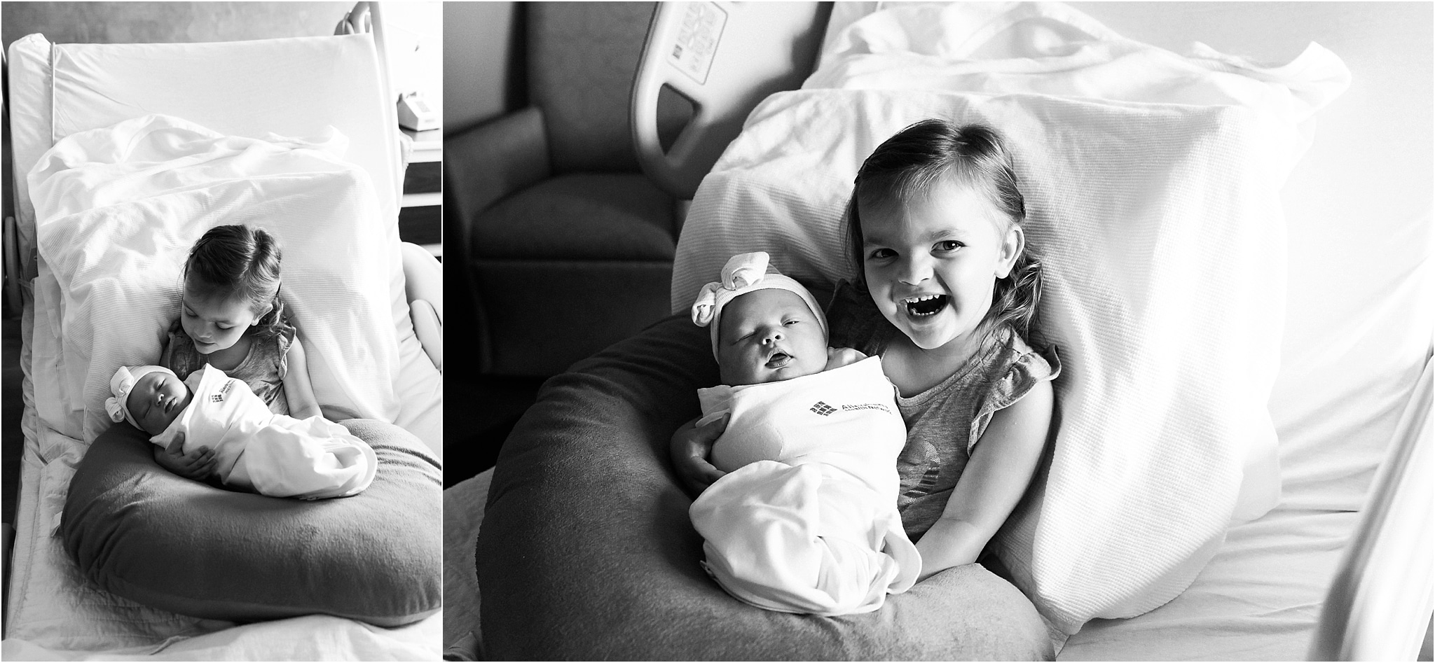 Big Sister Meeting and loving her new baby sister at the hospital