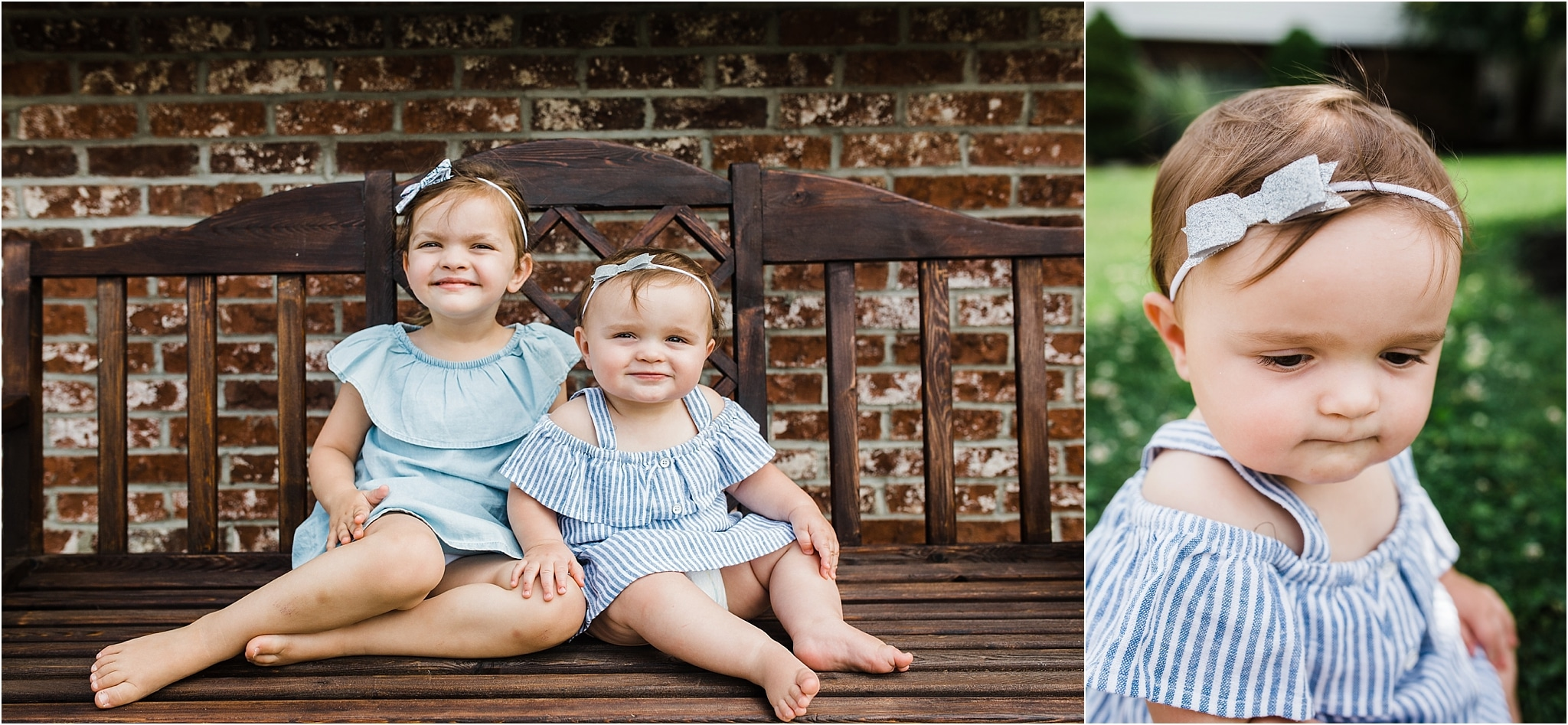 sibling sisters in adorable boys and dresses