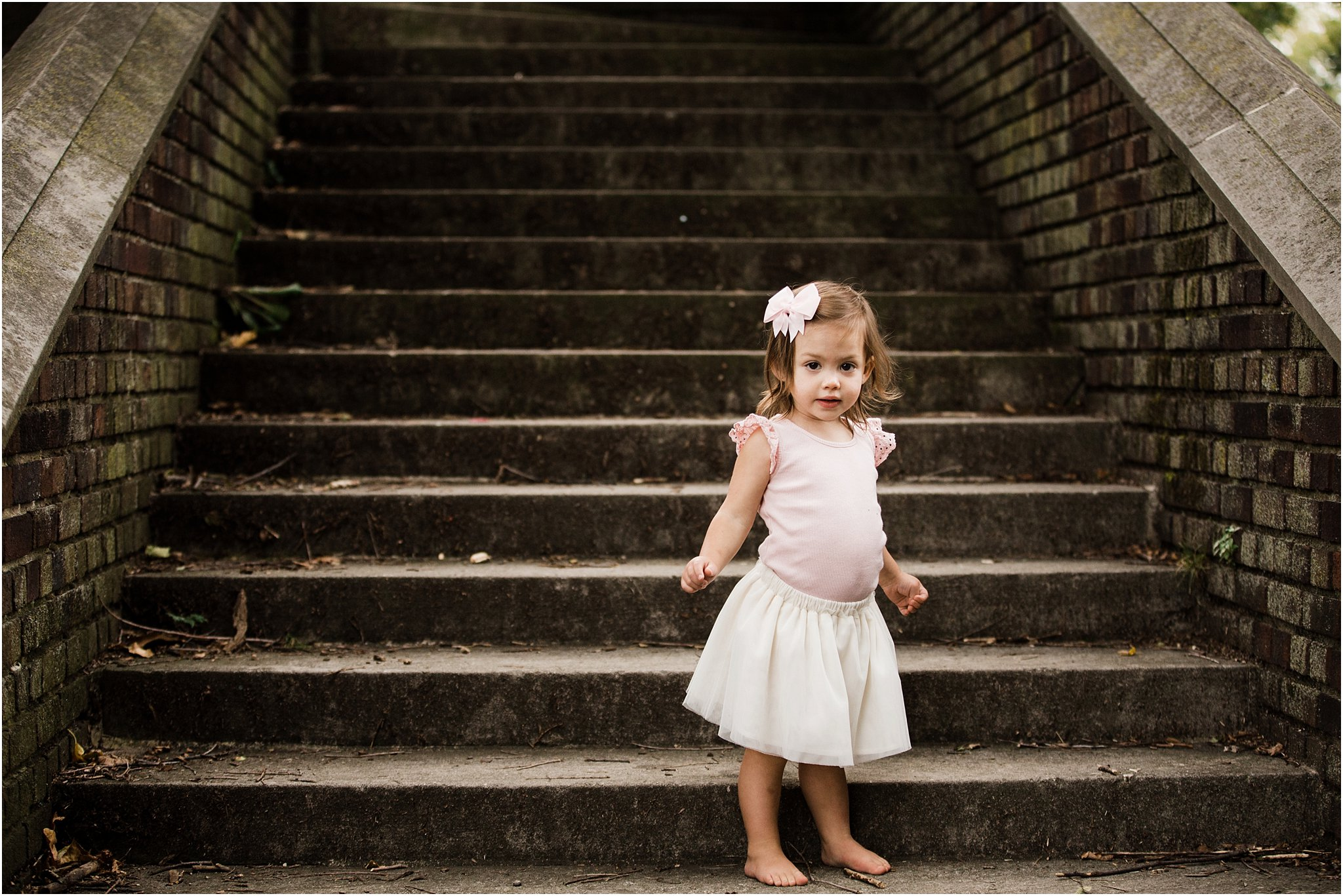 photo of toddler on steps