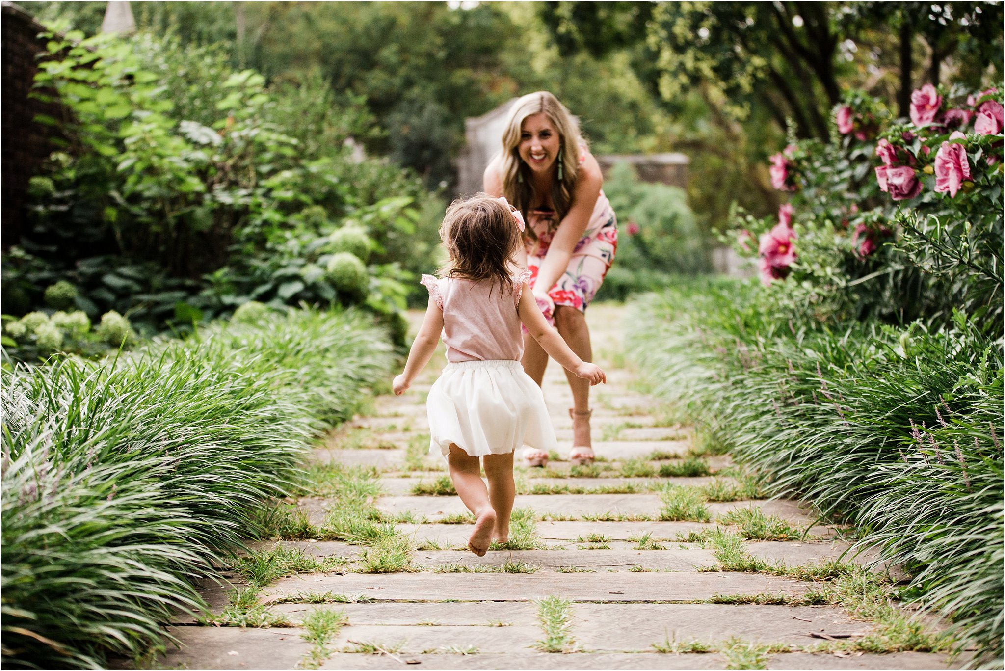 photo of toddler running to ward mother