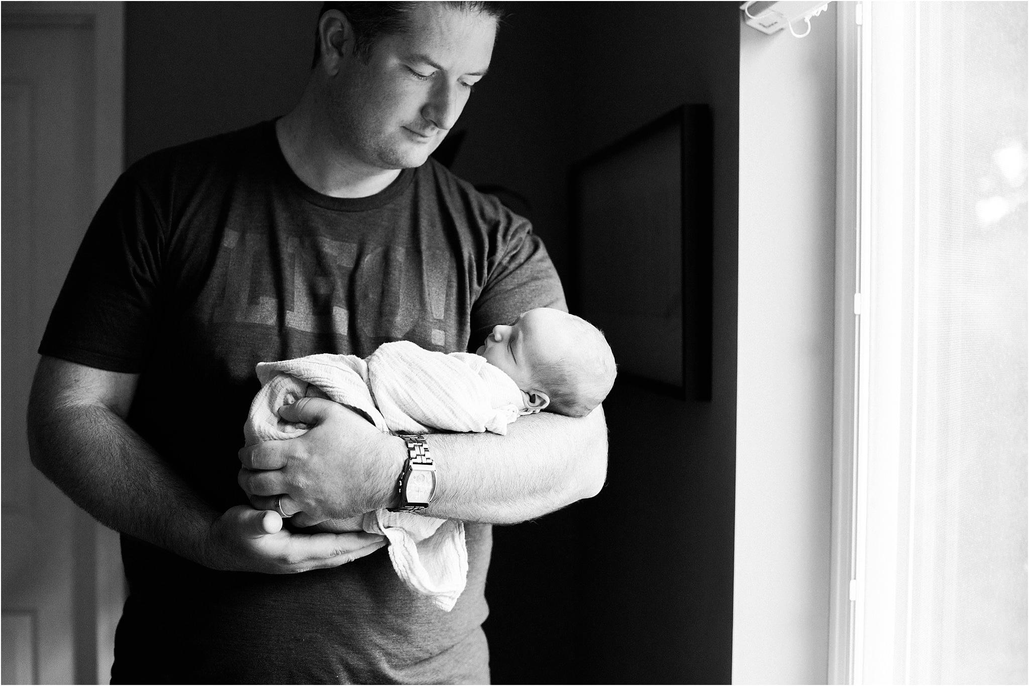 father and newborn boy