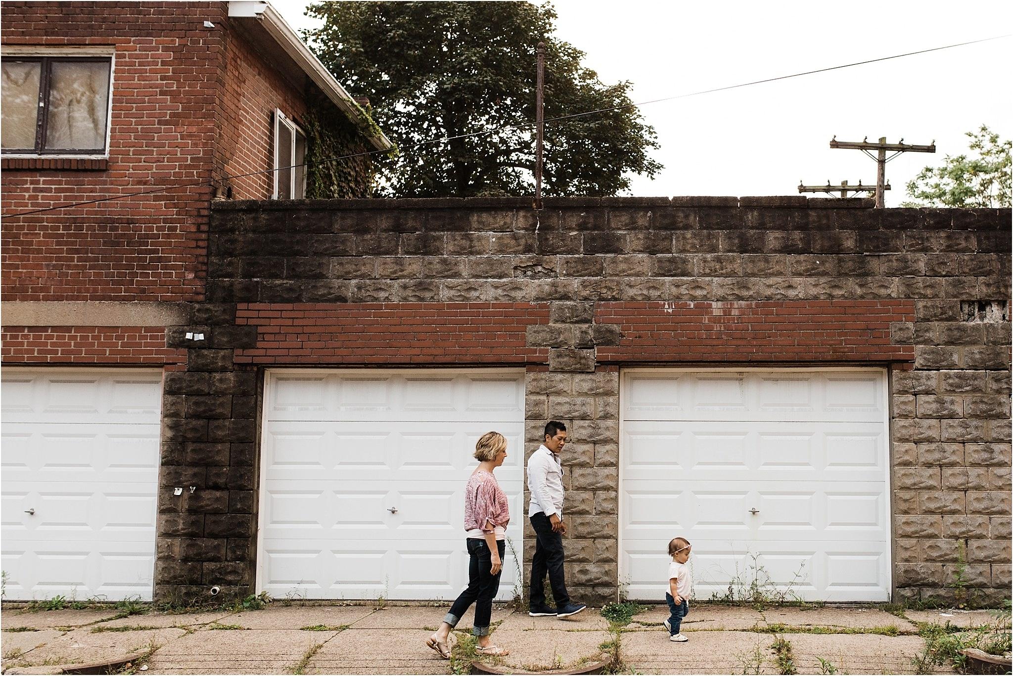 family walking in lawrenceville