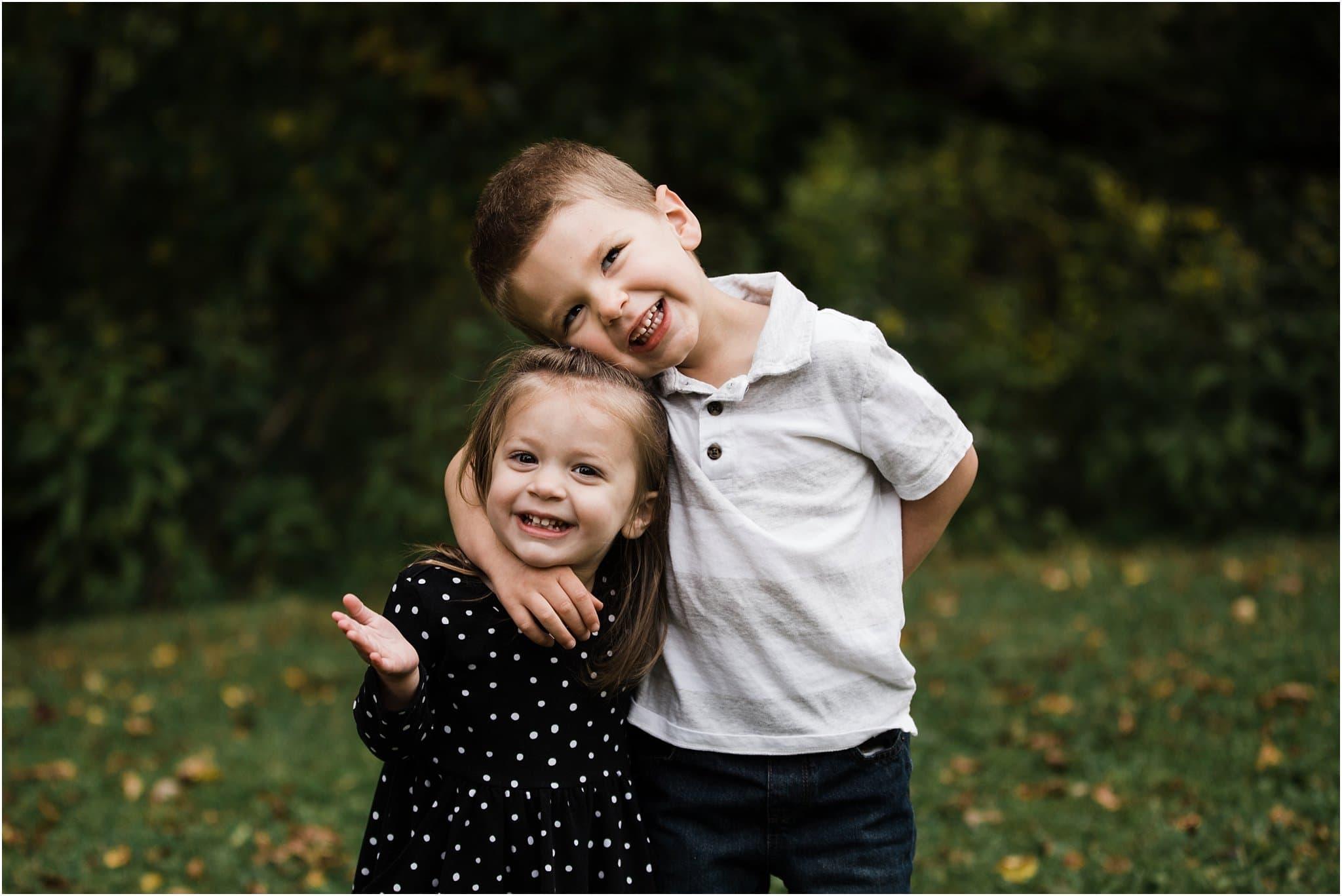 smiling siblings photo