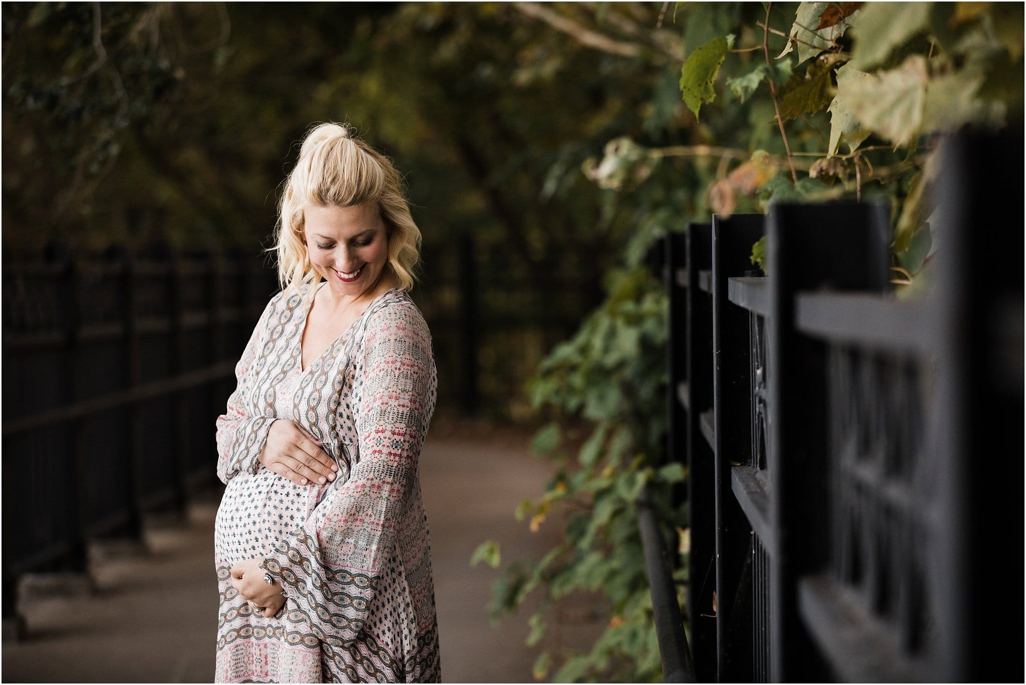 pittsburgh maternity photos boho dress