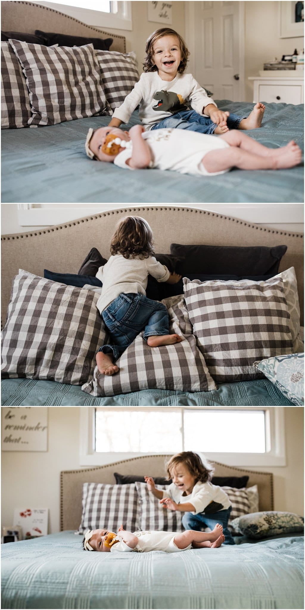 real life sibling newborn photos
