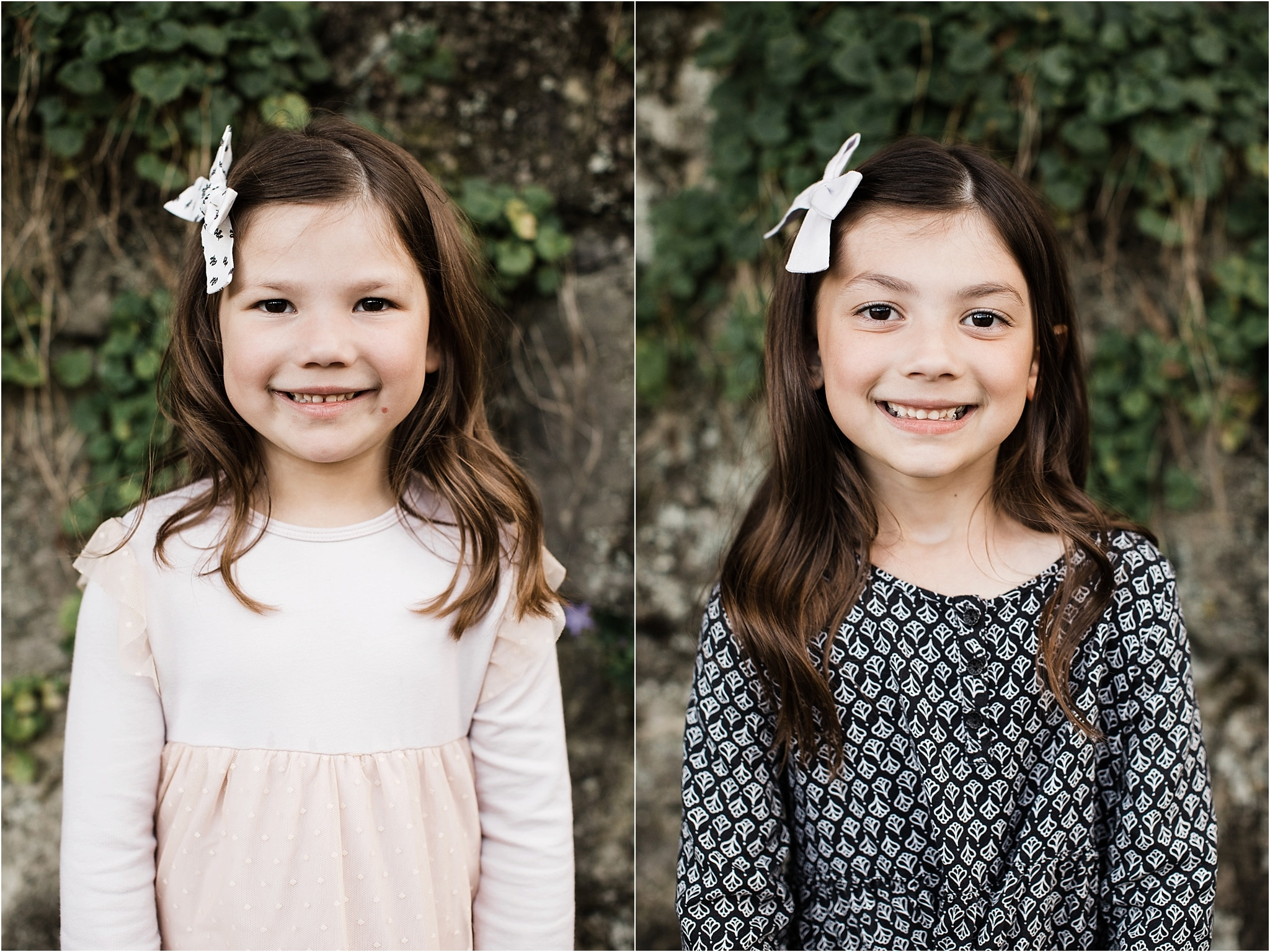 Portraits of sisters