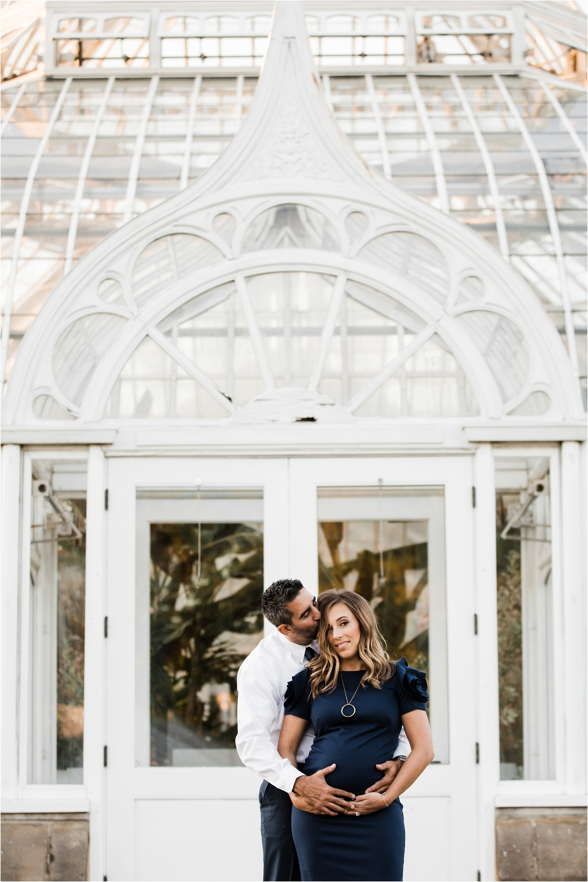 Formal Maternity wardrobe at Phipps Conservatory Pittsburgh