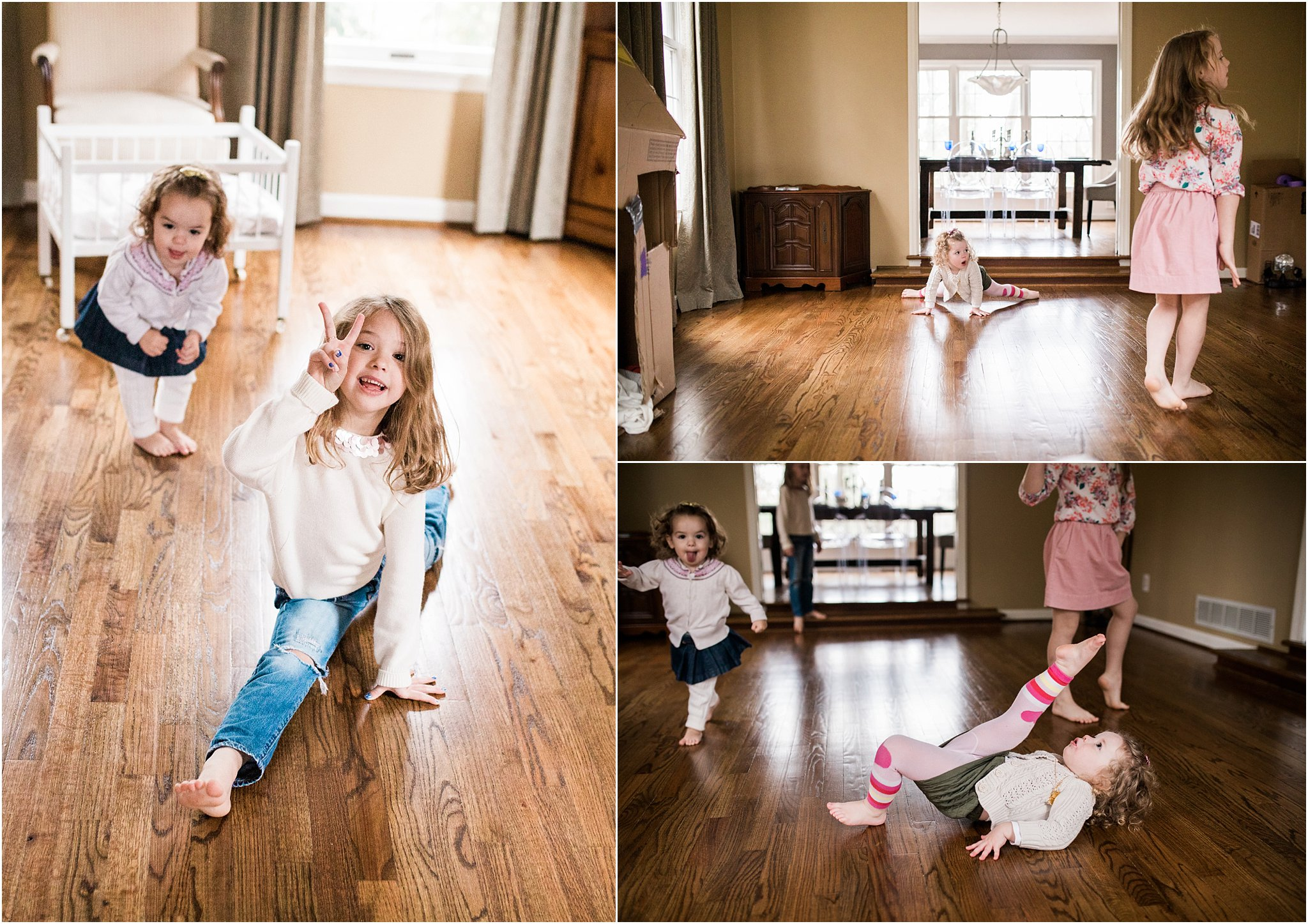 Natural laid back and fun family photos at home