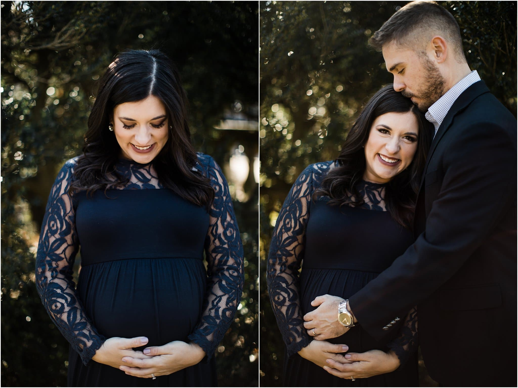 formal maternity photos at hartwood acres