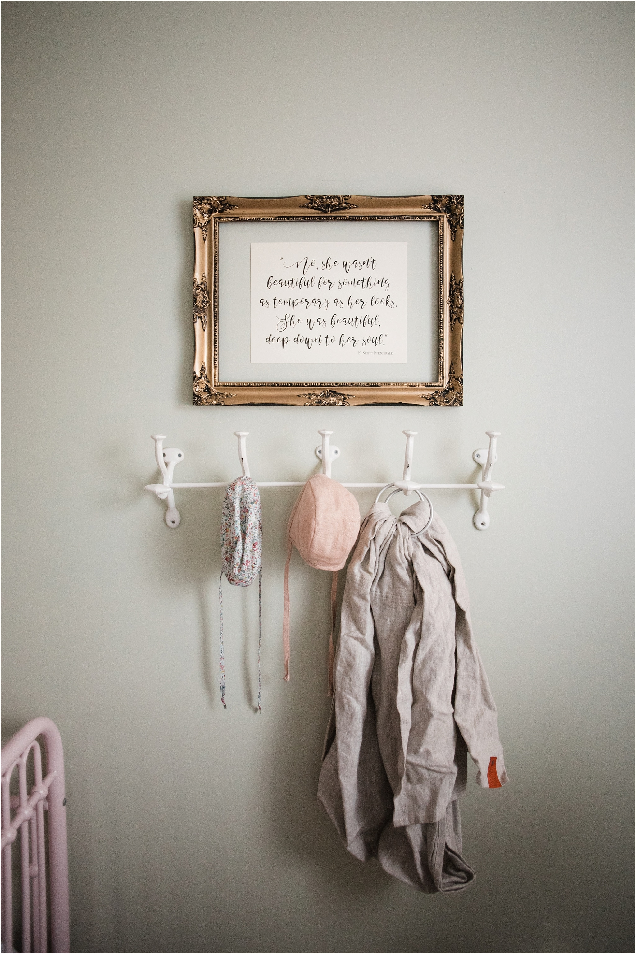nursery with f scott fitzgerald quote