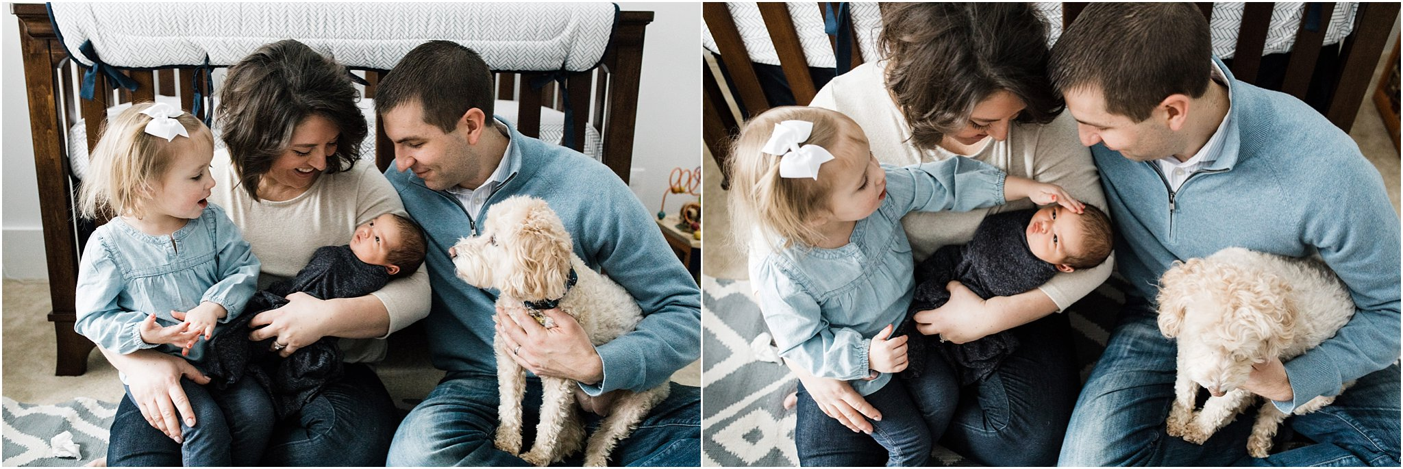 natural family photos with newborn baby boy