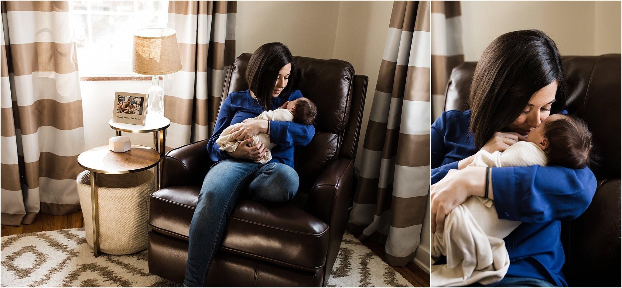 natural newborn photos at home