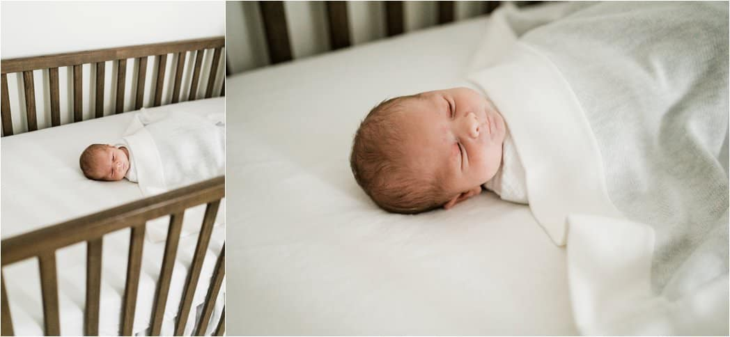 simple and natural newborn photos taken at home