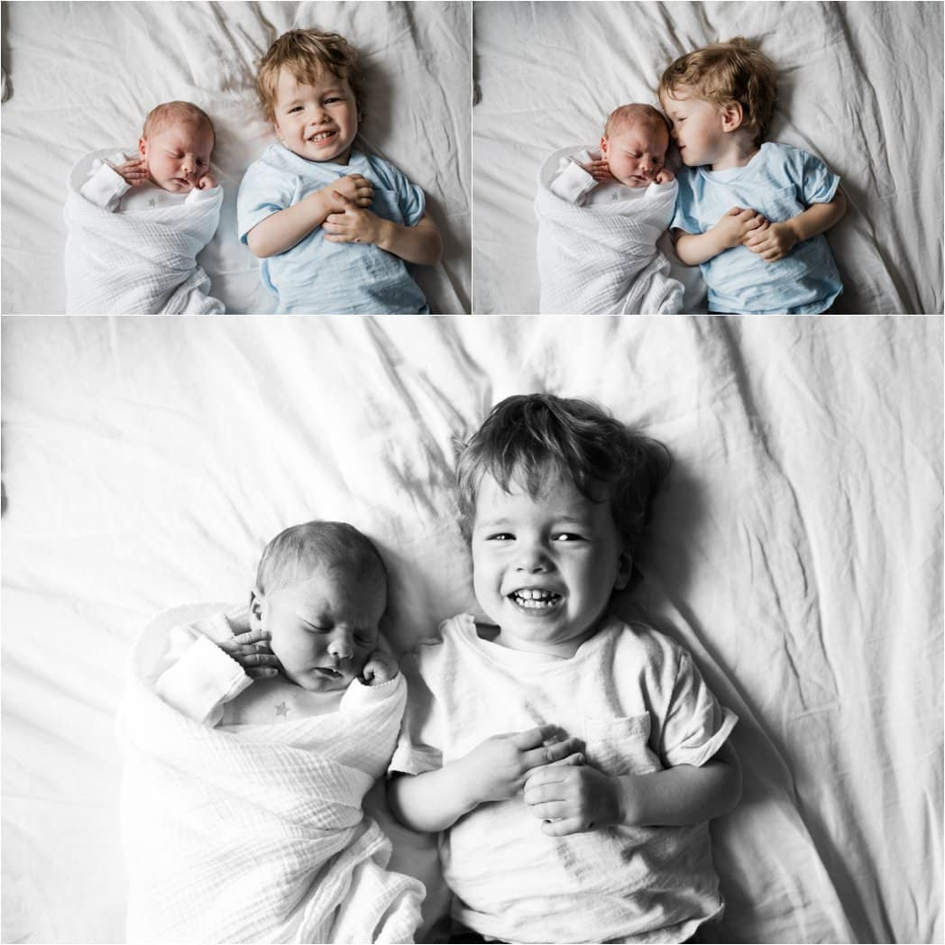brother images during at home newborn session