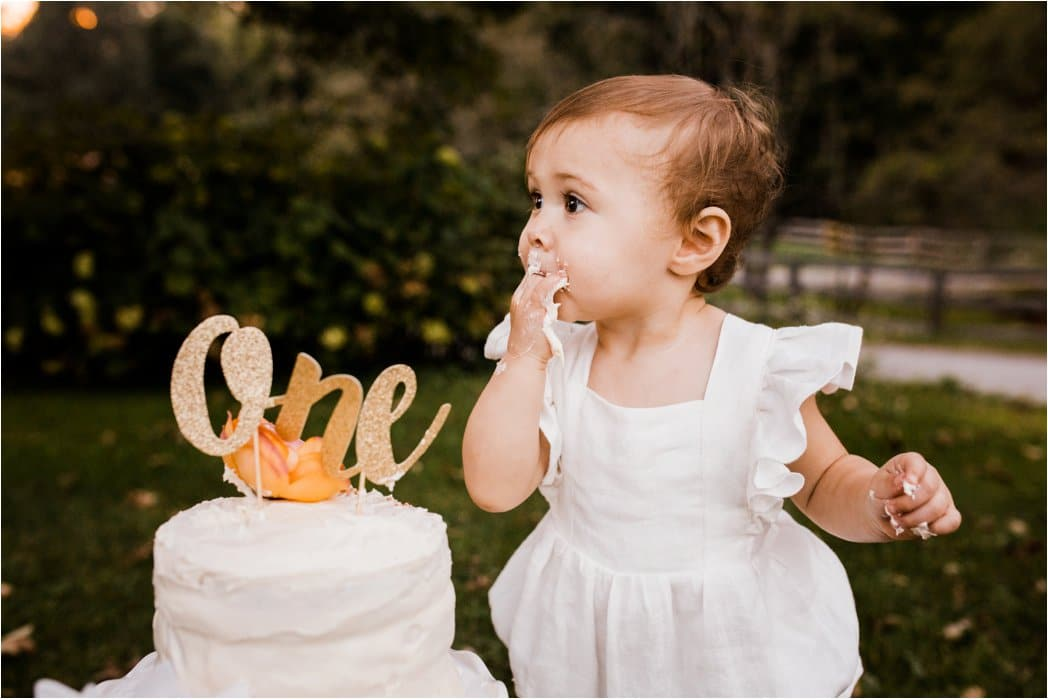 ONE YEAR OLD LOVING BIRTHDAY CAKE