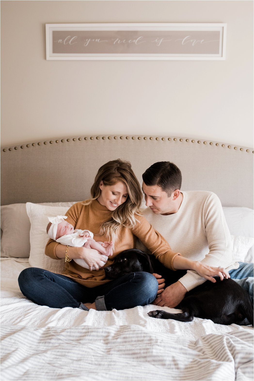 lifestyle family portrait during at home newborn session