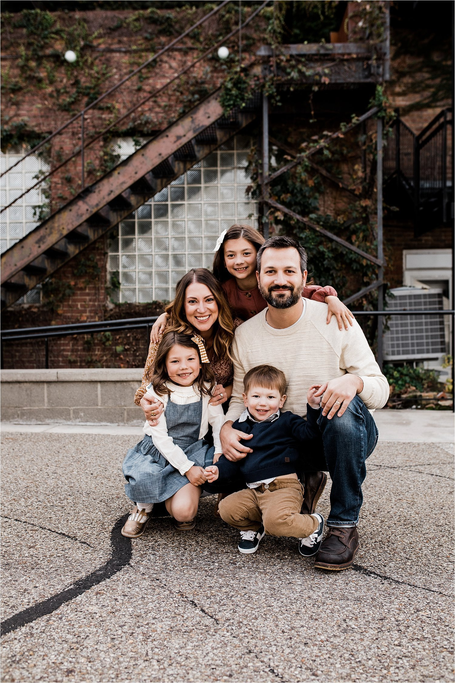 family photo in sewickley village pittsburgh pa