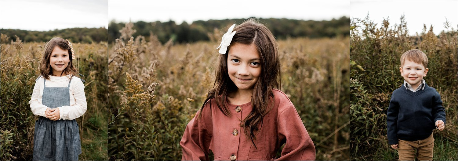 child portraits in open field in pittsburgh pa