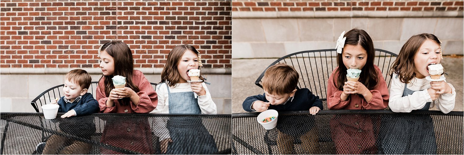 ice cream after family photo session