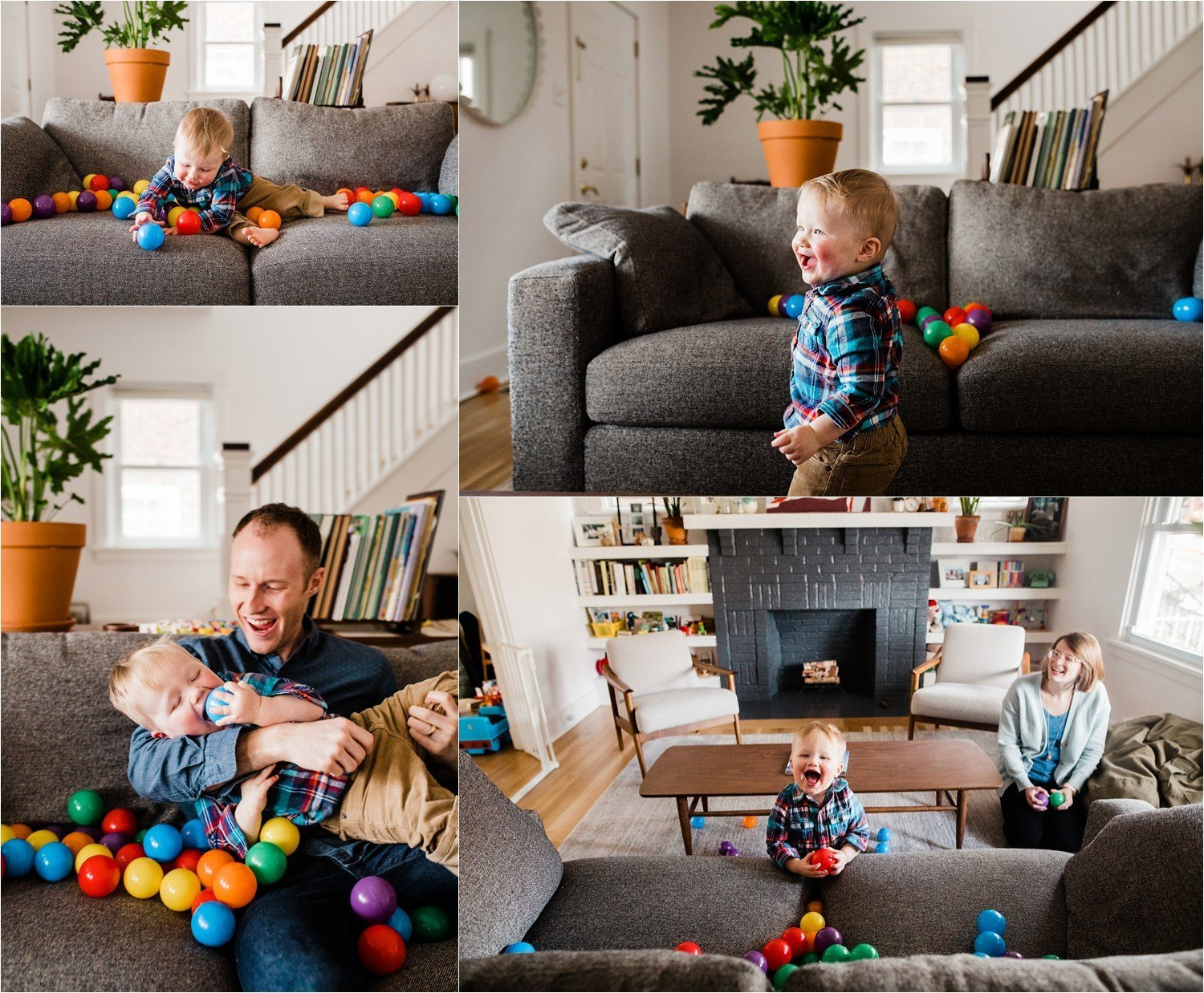 natural and playful family photographs at home