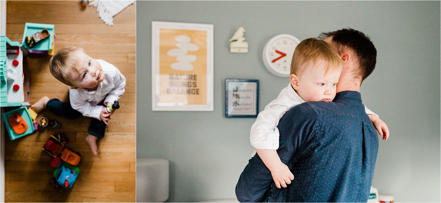 natural family photos at home in childs room