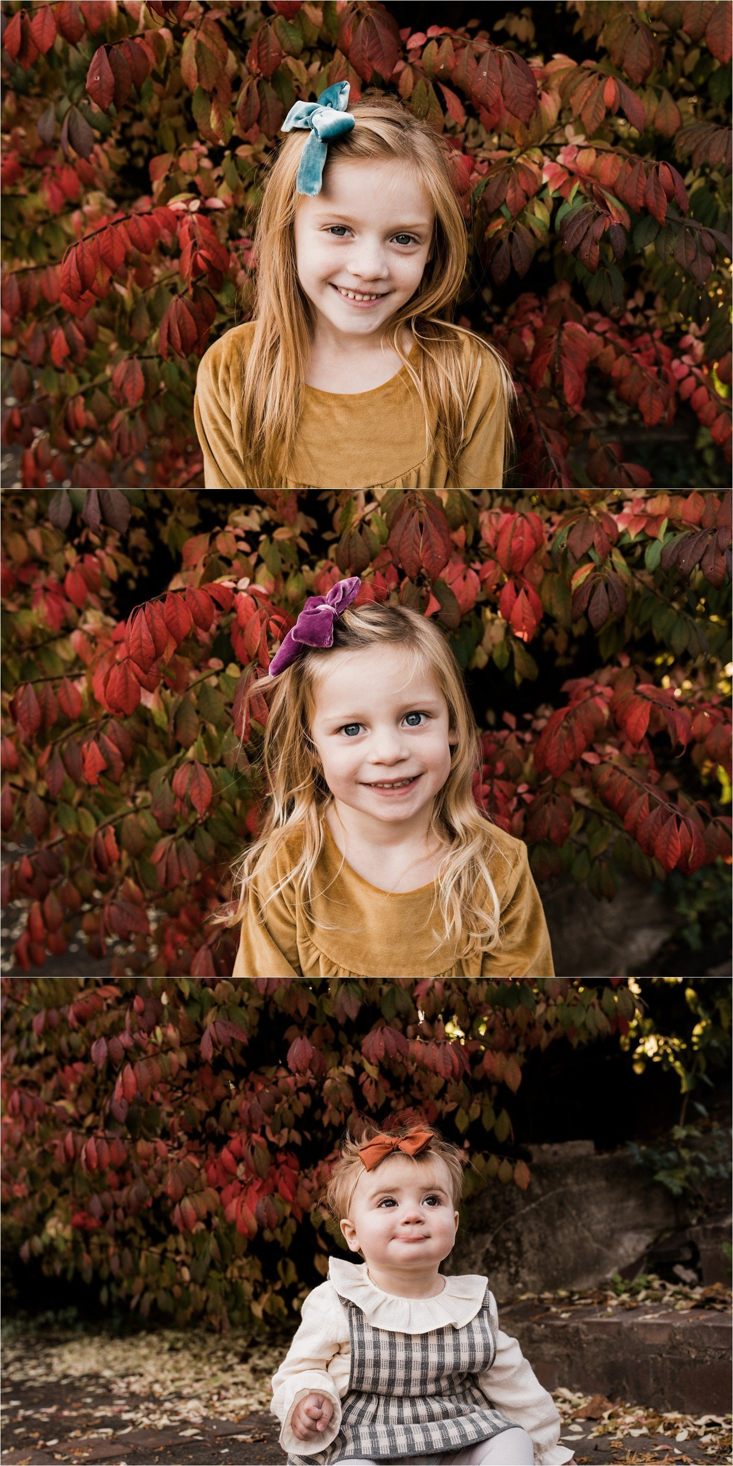 child portraits at fall family session in pittsburgh pa