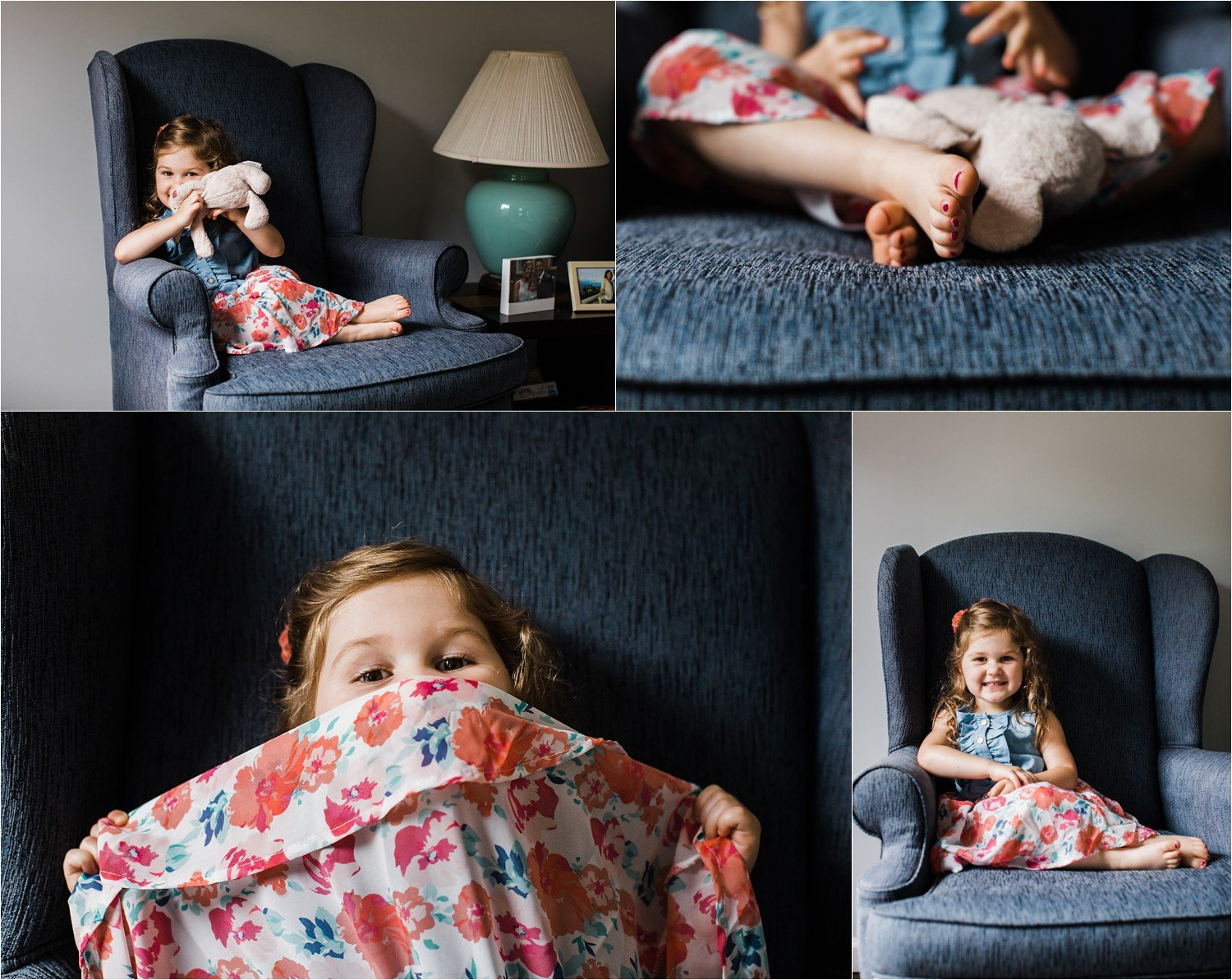 Older sibling photos during family newborn session