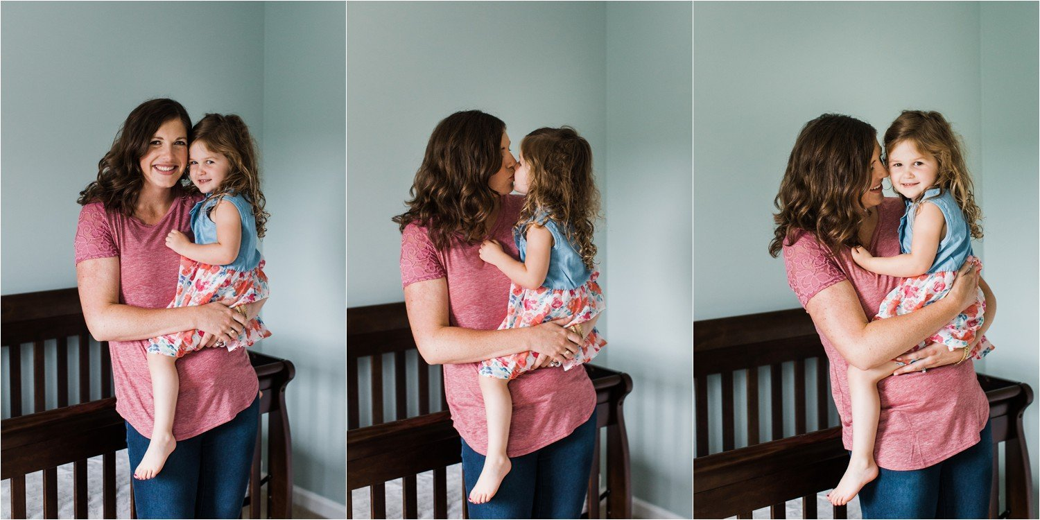 natural and adorable photos of a mother and toddler girl at home