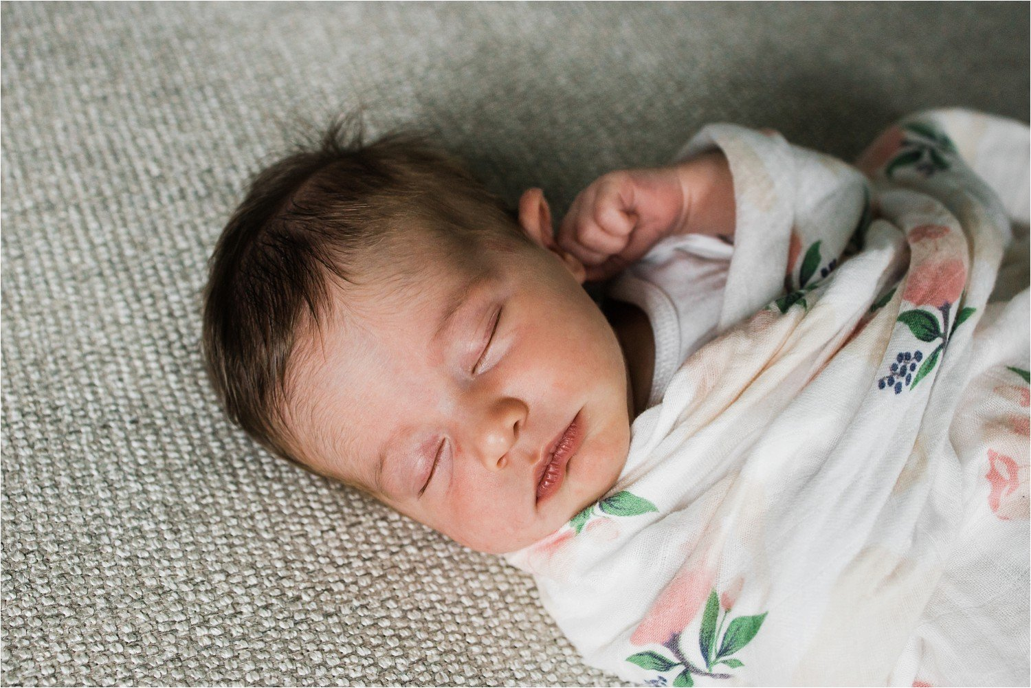 portrait of a newborn sleeping