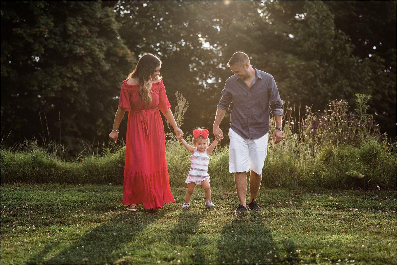 golden hour family photo
