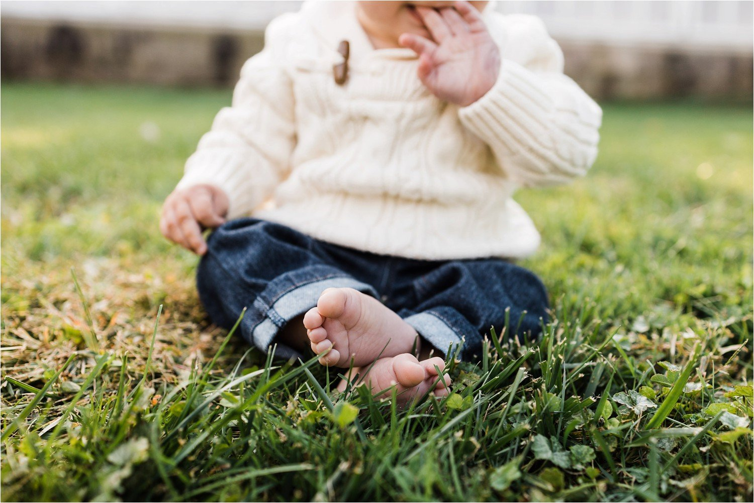 baby toes in the grass