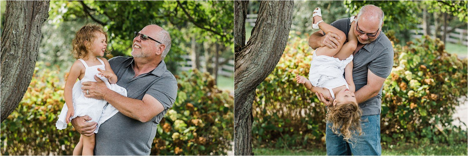 photos of little girl with her grandfather
