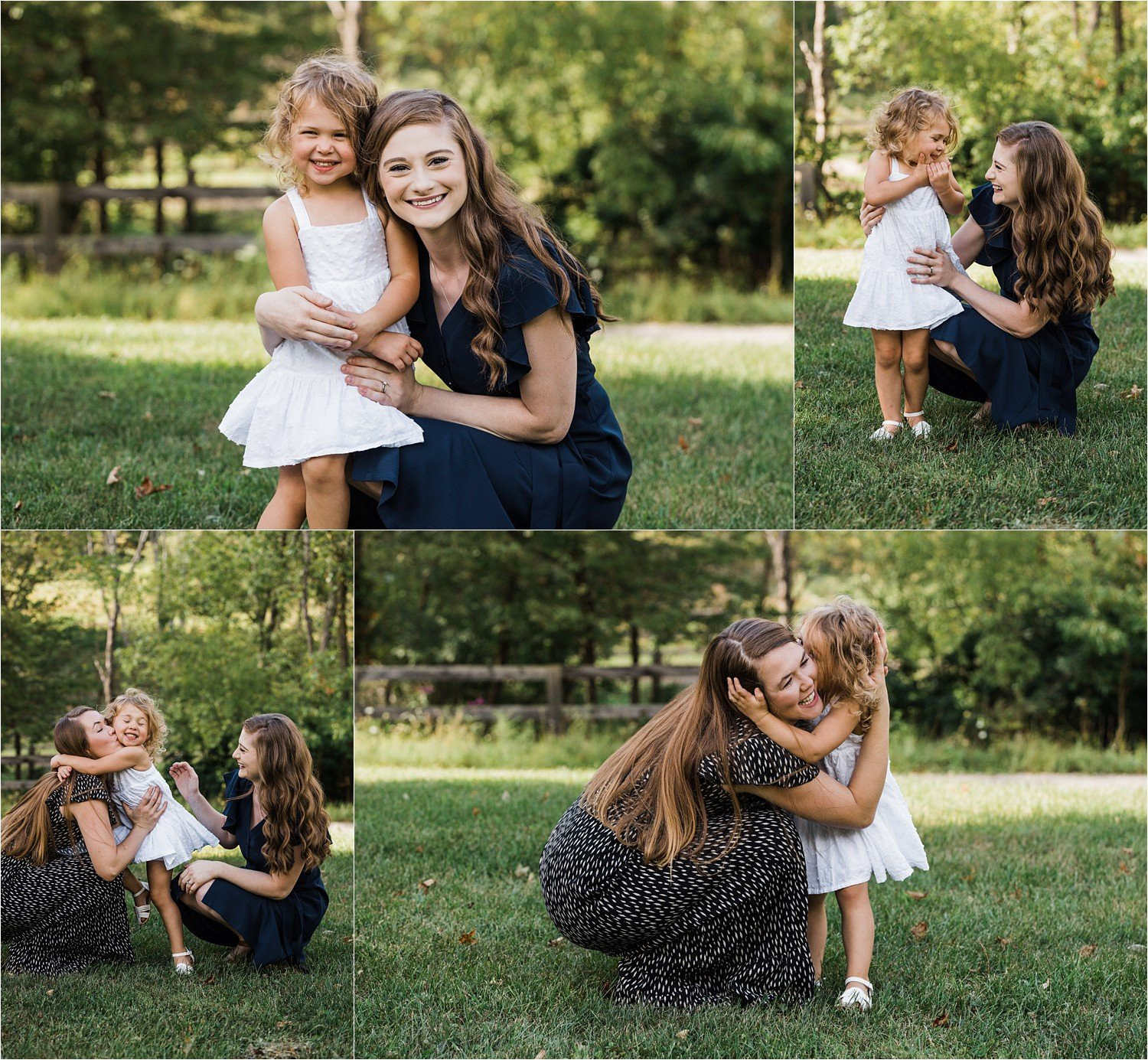 photos of littl girl with her mom and aunt