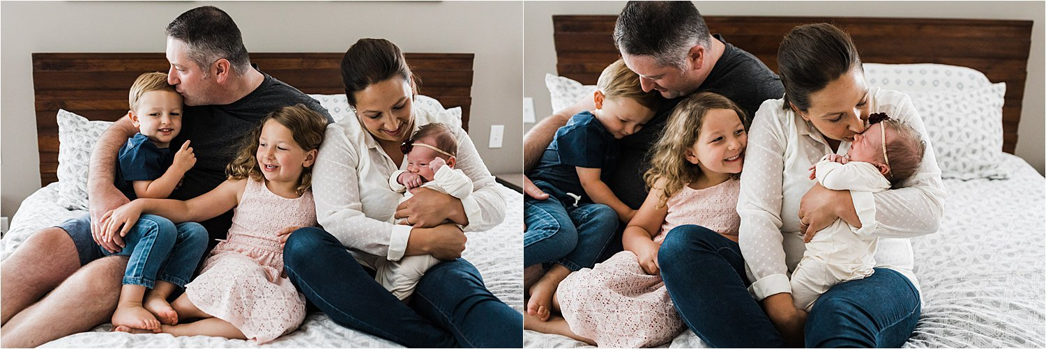 natural family moments at home newborn session