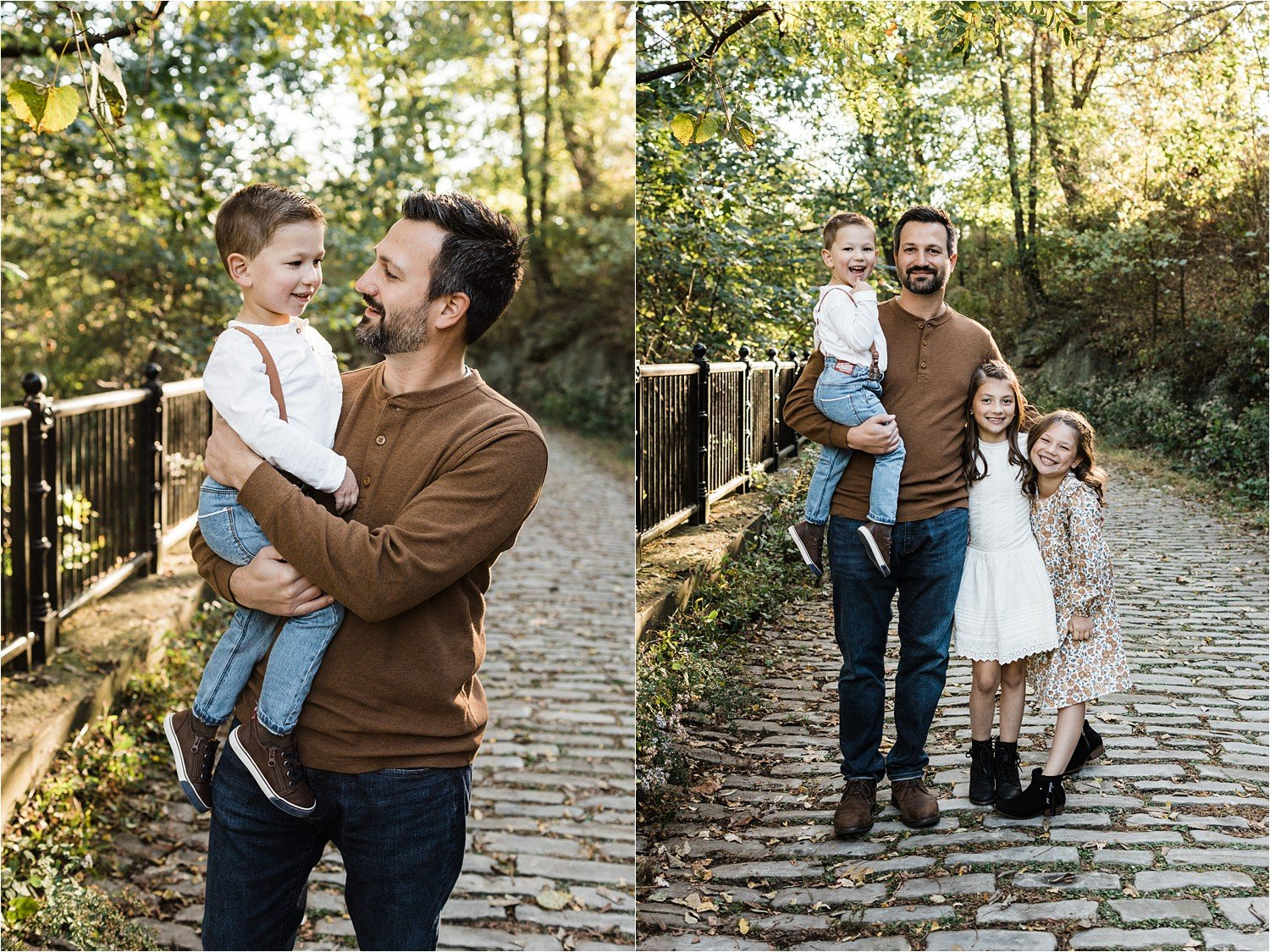 photos of father and children