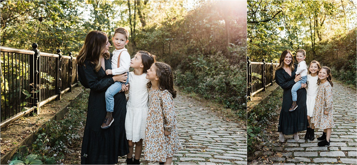 photos of mother and children